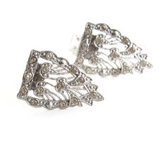 Antique Art Deco Dress Clips  Silver Tone 1920s by MaejeanVINTAGE, $18.00