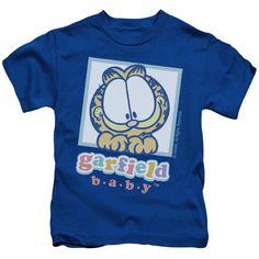 GARFIELD/BABY GARFIELD - S/S JUVENILE 18/1 - ROYAL - LG (7)   BABY GARFIELD | Cartoon T-Shirts | Mopixiestore.com