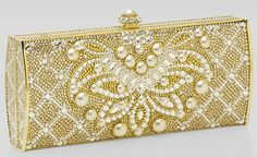 Romanov Pearl-Detail Minaudiere by Judith Leiber