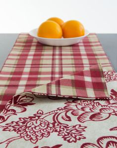 Christmas Red Table Runner Holiday Table Runner by TheFabricAffair, $45.00