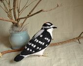 """Felt toy """"Downy Woodpecker""""..... I will make this item for your order"""