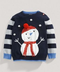 Boys Snowman Jumper - Baby Christmas Collection - Mamas & Papas
