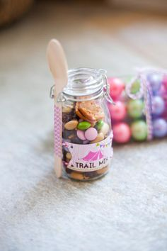Party favor Idea for girly camping theme from www.karaspartyideas.com