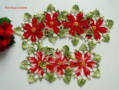 \ PINK ROSE CROCHET /: Flor de Natal - Crochê
