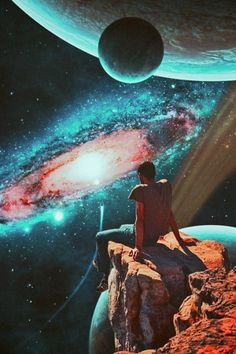 Far Away Trip. Surreal Mixed Media Collage Art By Ayham Jabr.