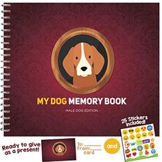 MY DOG MEMORY BOOK - Cute and Funny Keepsake Booklet for Proud Pet Owners. Male Dog Edition! ** Click on the image for additional details. (This is an affiliate link) #frida