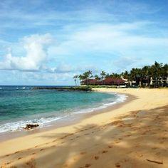 Poipu Beach, Kauai, Hawaii......I was just there 2 weeks ago..... I can feel the breeze:)