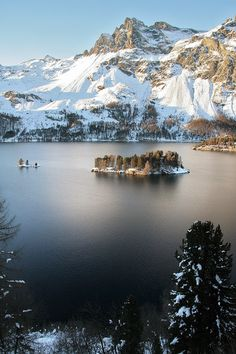 Awsome view of Lac de Sils, Switzerland
