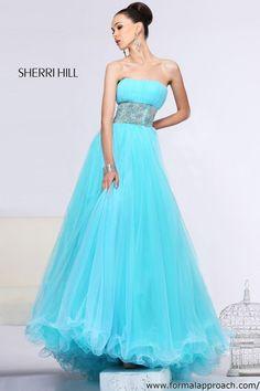 Sherri Hill Aqua Ballgown #formalapproach