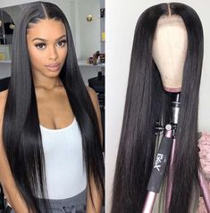 Fake Scalp Straight Lace Front Brazilian Hair Wig