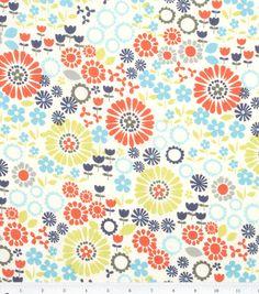 Keepsake Calico Fabric Flowers Tossed, , hi-res