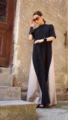 New Collection XXLXXXL Maxi Dress / Black and Ivory от Aakasha