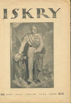 Iskry No. 34, 11.05.1939, Y. XVI, Drawing on the cover: Marszałek Józef Piłsudski