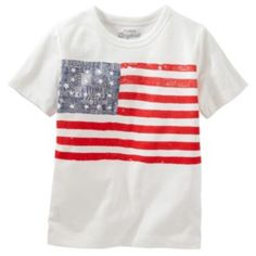 Boys+4-7x+OshKosh+B'gosh+Patriotic+American+Flag+Tee+