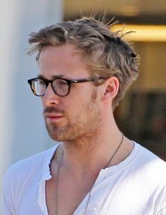 Actor Ryan Gosling suffers a bad case of bedhead as he stops at a local 7-Eleven to pick his morning iced coffee