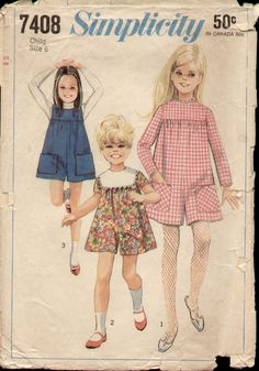 https://flic.kr/p/a3nJVs   Simplicity 7408 1967 Child Pantdress