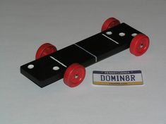 Domino Pinewood Derby Car