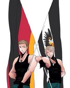Hetalia Prussia and Germany - the German brothers Prussia Hetalia, Hetalia Germany, Germany And Prussia, Empire, Hetalia Characters, Hetalia Axis Powers, Ludwig, Anime, Beautiful World