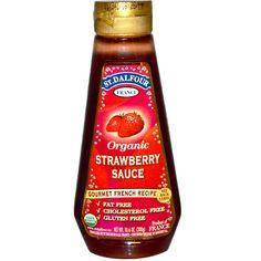 St. Dalfour, Organic Strawberry Sauce, 10.6 oz (300 g) - iHerb.com
