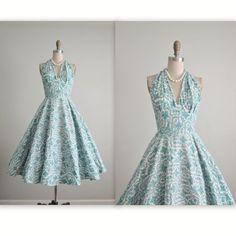 50er Jahre Halfter Kleid / / Vintage 1950 Teal von TheVintageStudio