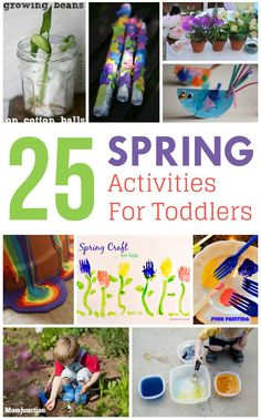 25 Fun & Creative Spring Activities For #Toddlers : here is our collection of 25 simple, sweet, and charming activities that will keep your toddlers, preschoolers, and kindergärtners busy during spring.