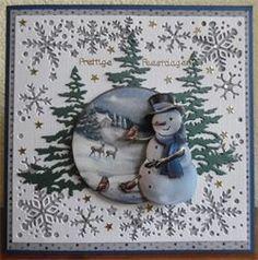 Diy Christmas Cards, Winter Christmas, Holiday Crafts, Christmas Decorations, Xmas, Snowflake Cards, Snowflakes, Diy And Crafts, Paper Crafts
