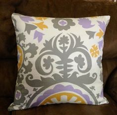 Pillow case cover Suzani wisteria for 18x18 pillow insert | WengMart - Housewares on ArtFire