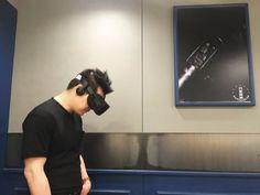 Richard Min watching Demo of Penrose VR