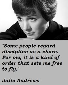 Encouragement from Dame Julie Andrews.