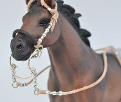 Western BRIDLE / headstall with hackamore for SCHLEICH by Maestozo