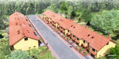 Terraced houses in NPR style : unrealviz
