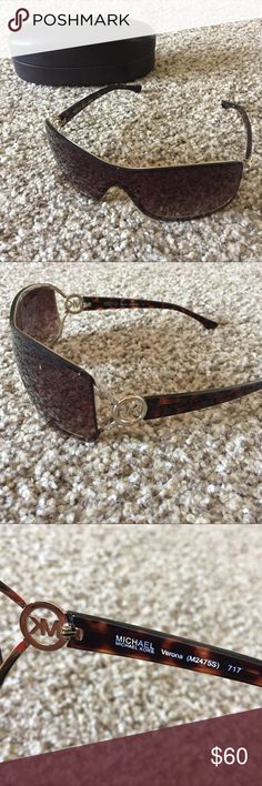 Michael Kors Brown with Silver Accents Sunglasses Michael Kors Brown with Silver Accents Sunglasses - like new! - no scratches - case is included!! Michael Kors Accessories Sunglasses