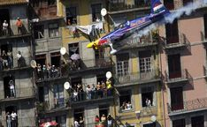 Peter Besenyei of Hungary performs during the seventh stage of the Red Bull Air Race World Series in Porto, Portugal on September 7, 2008. (REUTERS/Daniel Grund/Red Bull Air Race) # - Boston.com