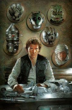 Aujourd'hui, grosse galerie de magnifiques illustrations sur Starwars : Bobba Fett, Darth Vader, Luke Skywalker, Padme Amindala, mais aussi le Millenium Falcon, R2-D2, les Stormtroopers, etc... Beaucoup de styles très différents, mais que du beau matos !