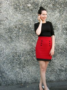 pI drafted this high waisted bodycon skirt myself, using two fantastic tutorials from the House of Marmalade. The first tutorial teaches you how to draft your own skirt block, and then the second teaches you how to alter it to make a high waisted pencil skirt. Her explanations are so /p