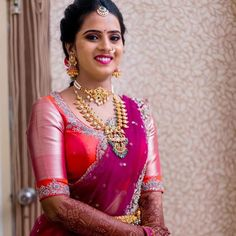 Half Saree Designs, Fancy Blouse Designs, Blouse Neck Designs, Magam Work Blouses, Kids Lehenga, Indian Beauty Saree, Embroidered Blouse, Indian Dresses, Dress Collection