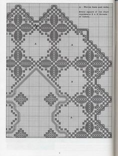 Gallery.ru / Фото #133 - хардангер - Pistimeya Embroidery Patterns Free, Hand Embroidery Stitches, Cross Stitch Embroidery, Embroidery Designs, Sewing Patterns, Hardanger Embroidery, White Embroidery, Bargello, Filet Crochet