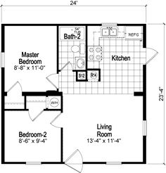 1 Bedroom 24x24 House Plans Free Image House Design