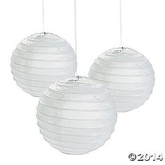 White Paper Lanterns - a dozen for $8.00 For painting or making hot air balloon lanterns or both!