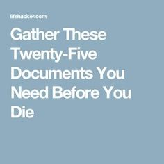 Do your loved ones a favor and organize these important documents so in case something happens to you they can easily make financial decisions and act on your behalf. The Wall Street Journal explains which policies and documents to make accessible. Emergency Binder, In Case Of Emergency, Emergency Preparedness, Survival, Planners, When Someone Dies, Funeral Planning, End Of Life, 4 Life