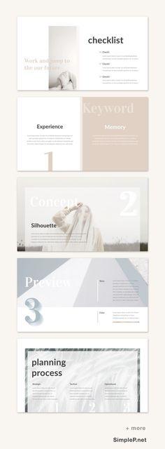 Clean Keynote Presentation PPT Template #simple #minimal #minimalist #presentation #template #simplep #planning #process #keyword #slide #checklist #key #keynote #pale