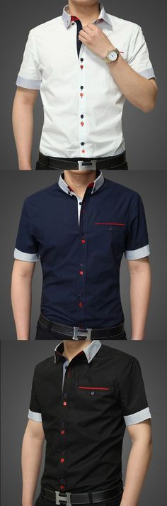 Home Decor – Get the home style you have to light up your living spaces. Casual Shirts For Men, Men Casual, Uniform Shirts, Camisa Polo, Men's Wardrobe, Men Looks, Mens Clothing Styles, Shirt Style, Men Dress