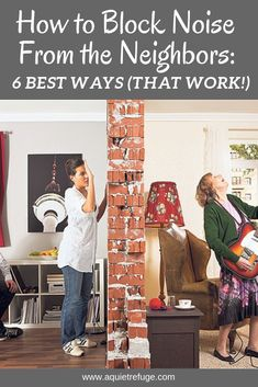 There's nothing as annoying as having to deal with noisy neighbors. Instead of moving out, here are 6 ways on how to block noise from the neighbors. Annoying Neighbors, Noisy Neighbors, Soundproofing Material, Apartment Walls, Soundproof Apartment, Build Your House, Studio Apartment Decorating, Audio Room, Diy Home Repair