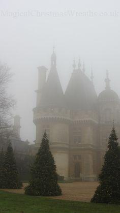 The Magical Christmas Wreath Company: Christmas at Waddesdon Manor English Country Manor, English Manor Houses, English Countryside, Palaces, Brighton, Magical Christmas, French Chateau, Bath, Mists