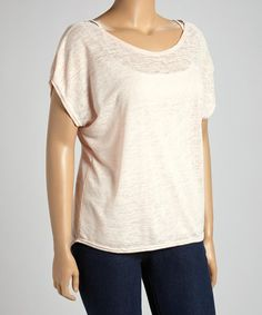 Love this Pink Scoop Neck Top - Plus on #zulily! #zulilyfinds