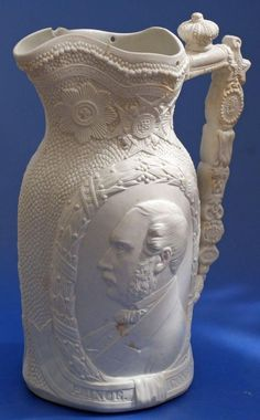 Prince Albert Consort Queen Victoria Death In Memoriam Jug Antique