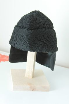 Vintage Lambs Wool Mens Boat / Cossack Hat by foundundertheeaves, $35.00