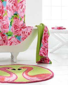 @Lilly Oh Pulitzer  Sister Florals Towels and Shower Curtain - Garnet Hill