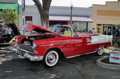 1955 Chevrolet Bel Air cnv - red white - fvl | Rex Gray | Flickr