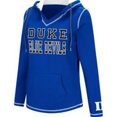 5d2874d85f6b1 Colosseum Women s Duke Blue Devils Duke Blue Spike Fleece Hoodie .